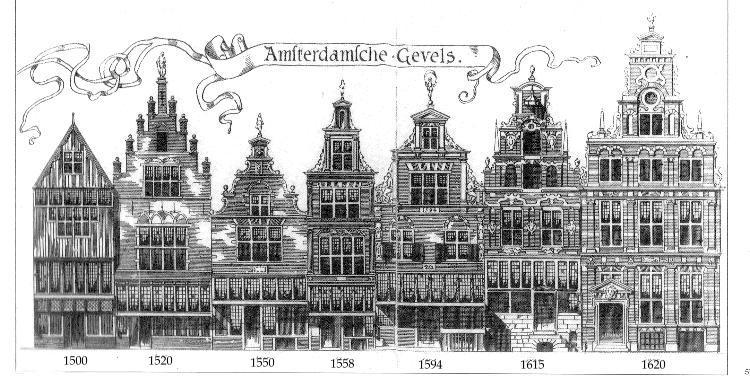 De oorsprong van de trapgevel for Huizen tekenen