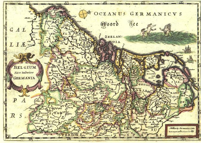 oudste kaart van nederland West Friesland op oude kaarten