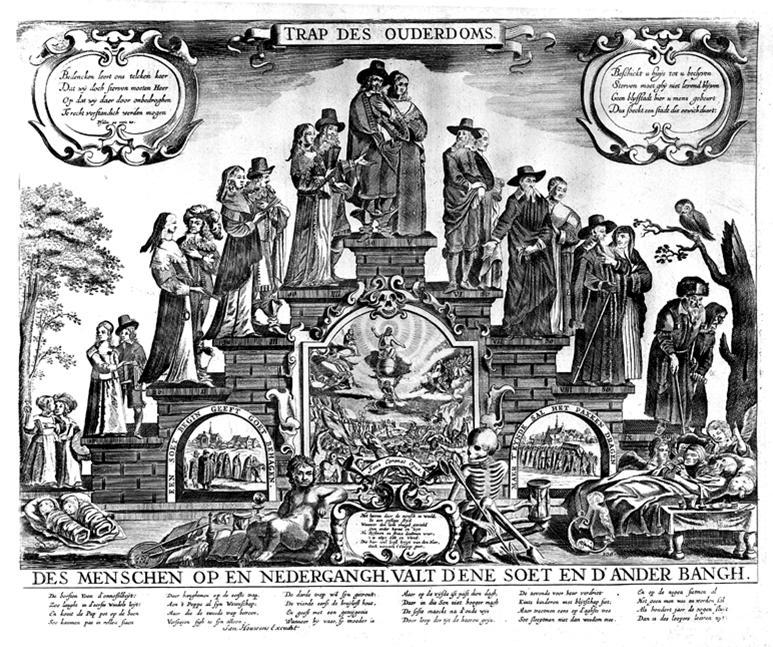 De oorsprong van de trapgevel - Schilderij kooi d trap ...